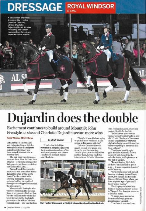 Horse--Hound April 2019 Durjardin Dominates 2 talented mares