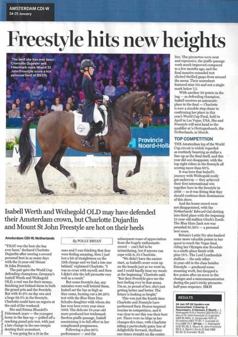 Horse & Hound Amsterdam Freestyle & Charlotte