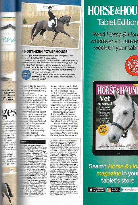 Horse & Hound February 2019 A Northern Powerhouse ones to watch